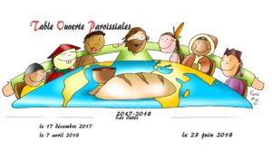 Tables Ouvertes Paroissiales 2017-2018